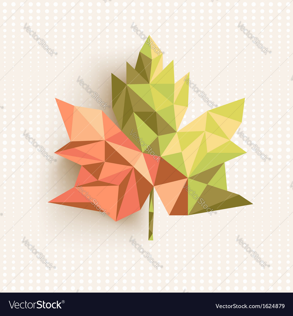 Fall season triangle leaf composition concept vector | Price: 1 Credit (USD $1)