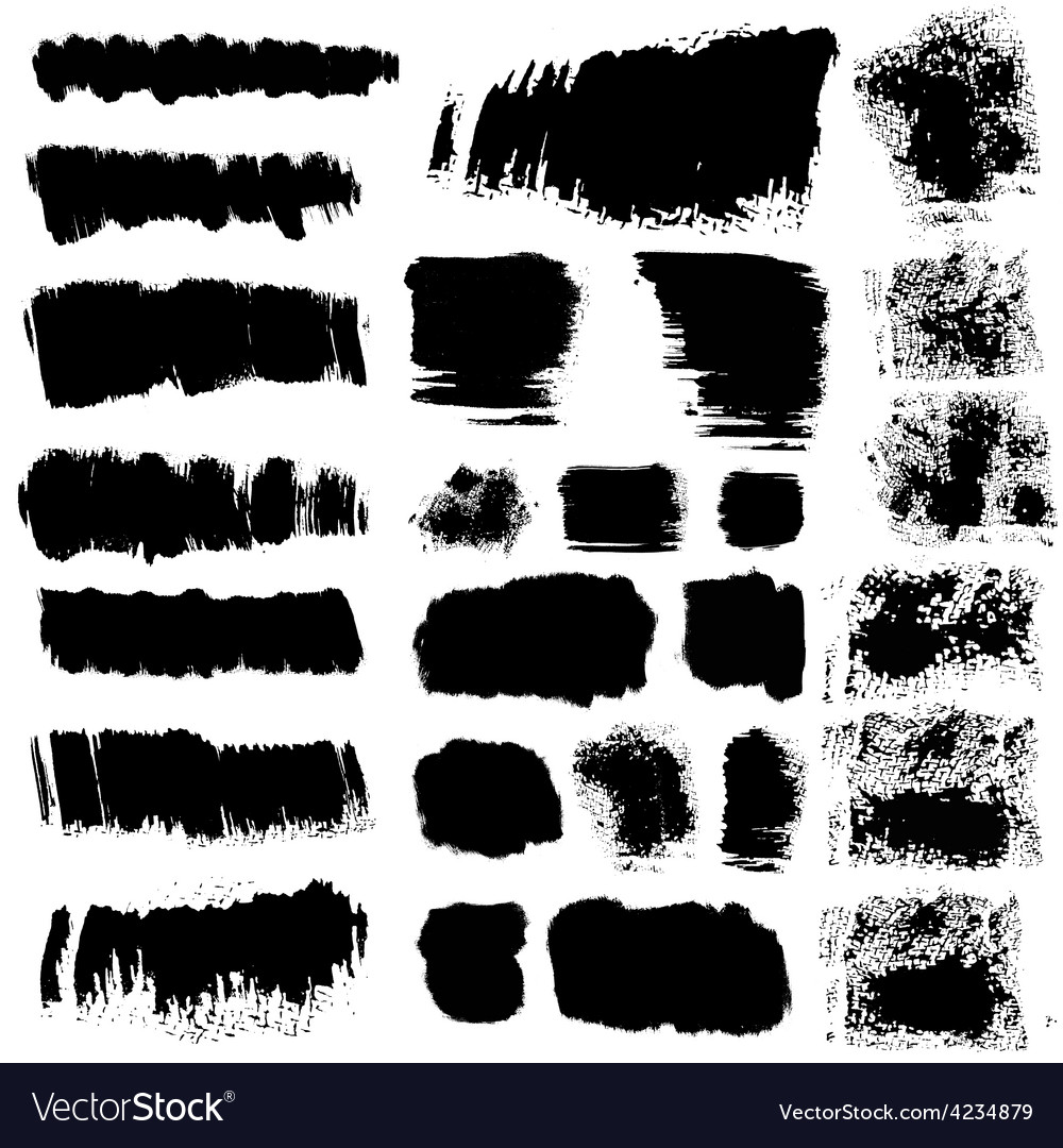 Ink brush stains set vector | Price: 1 Credit (USD $1)