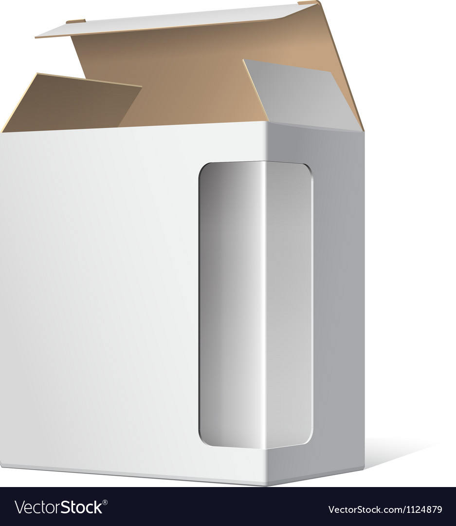 Light realistic open package cardboard box with a vector | Price: 1 Credit (USD $1)