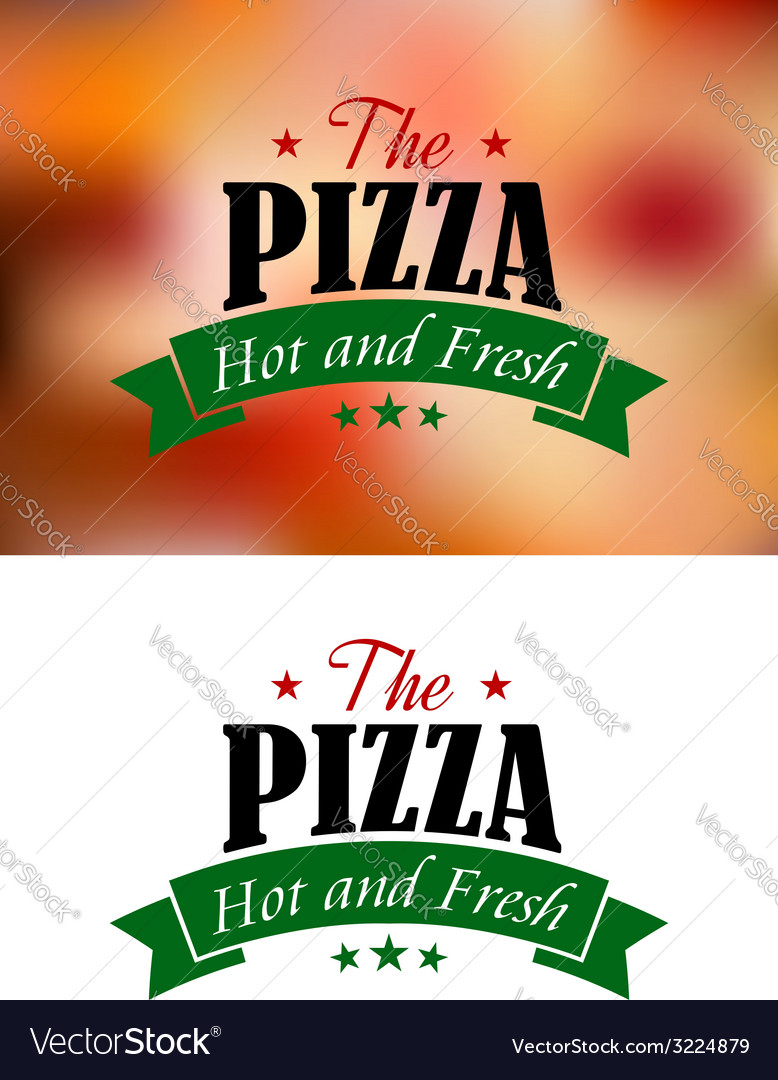 Pizza sign or label vector | Price: 1 Credit (USD $1)