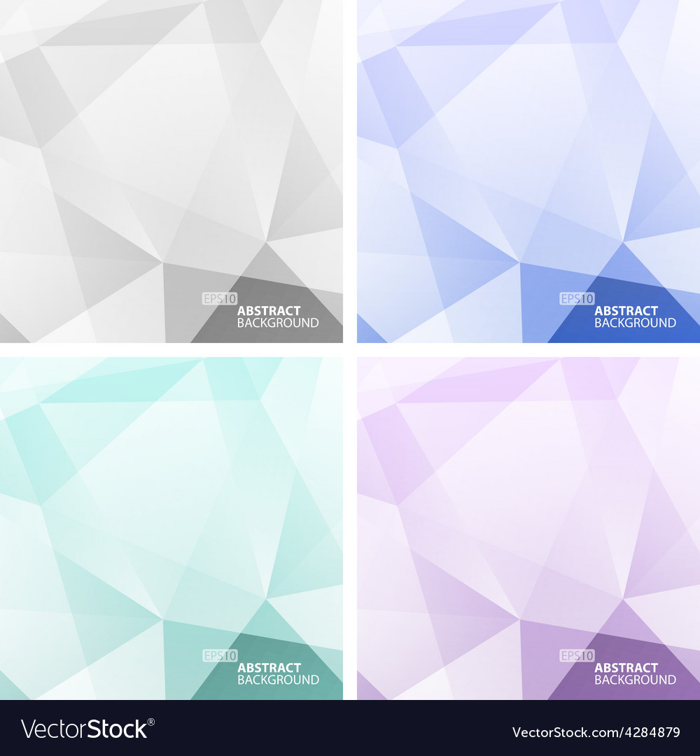 Set of light colorful abstract geometric vector | Price: 1 Credit (USD $1)