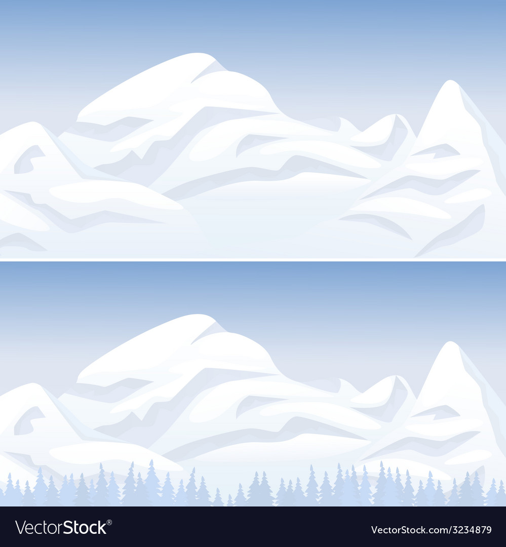 Snow mountain landscape vector | Price: 1 Credit (USD $1)