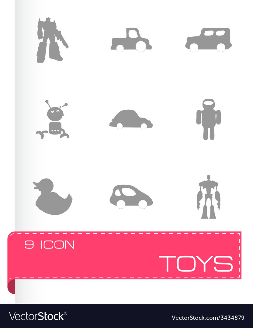 Toys icons set vector | Price: 1 Credit (USD $1)