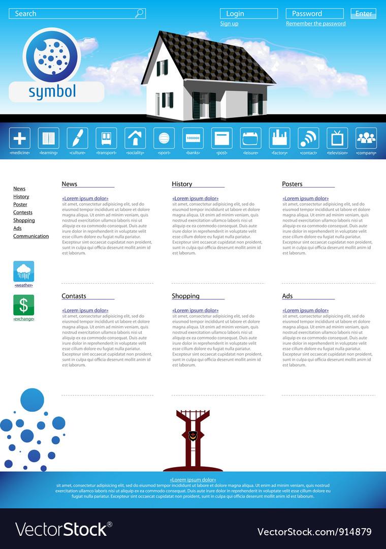 Web site design template vector | Price: 3 Credit (USD $3)