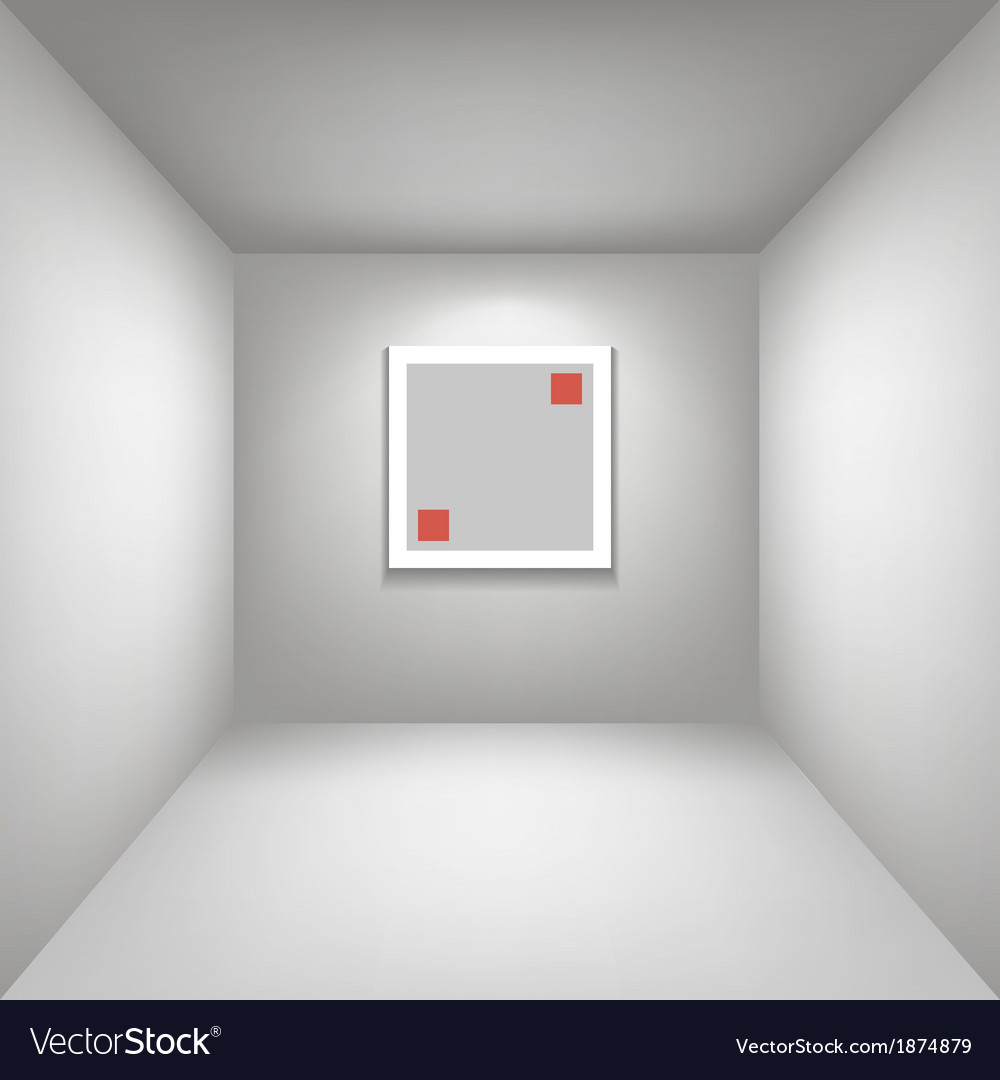 White gallery room background in perspective whith vector | Price: 1 Credit (USD $1)