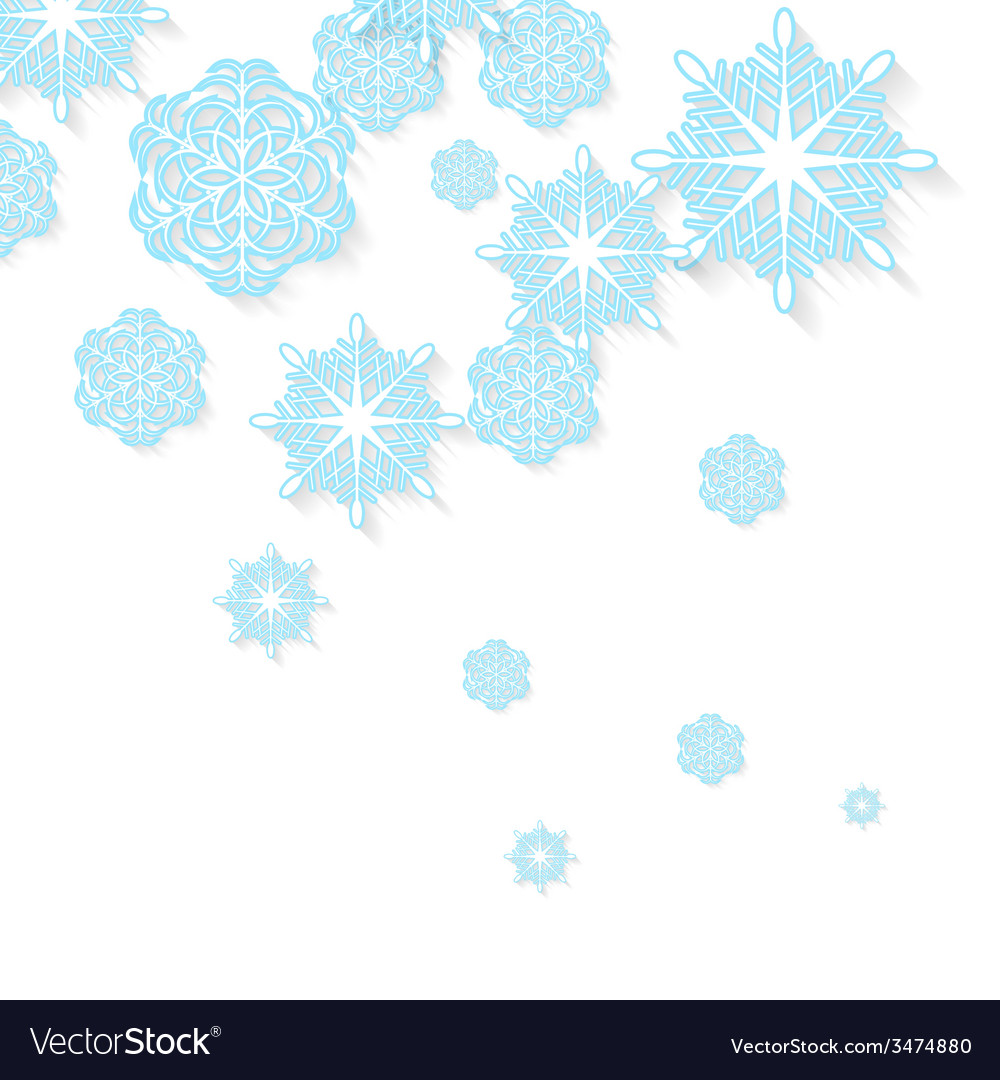 Blue snowflakes on white background vector | Price: 1 Credit (USD $1)