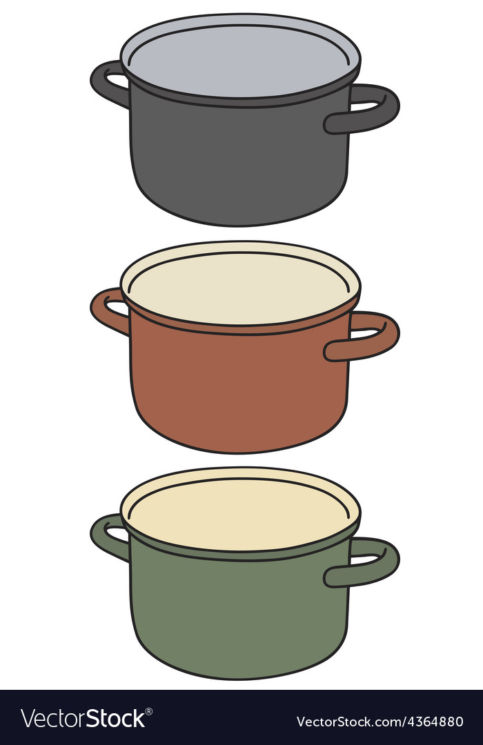 Color pot vector | Price: 1 Credit (USD $1)