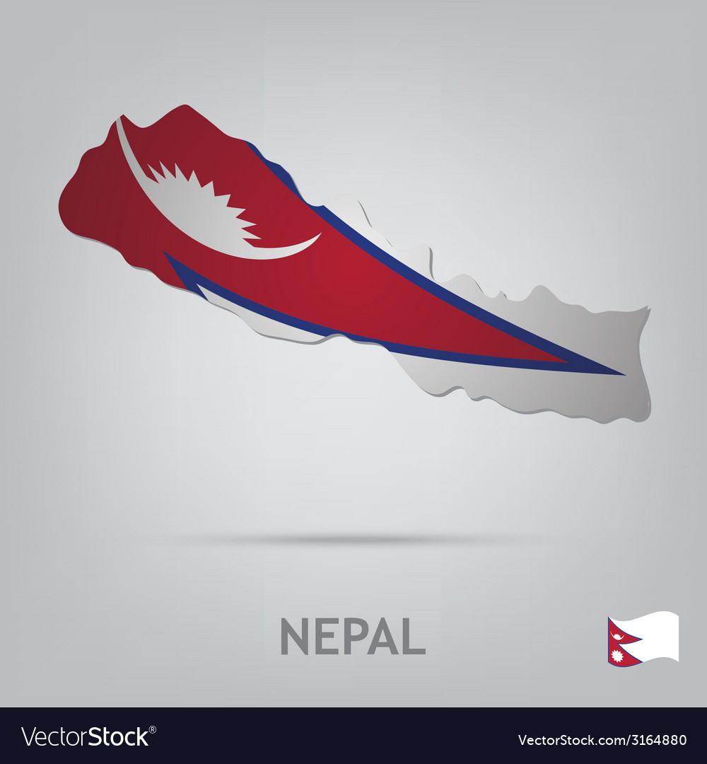 Country nepal vector | Price: 1 Credit (USD $1)