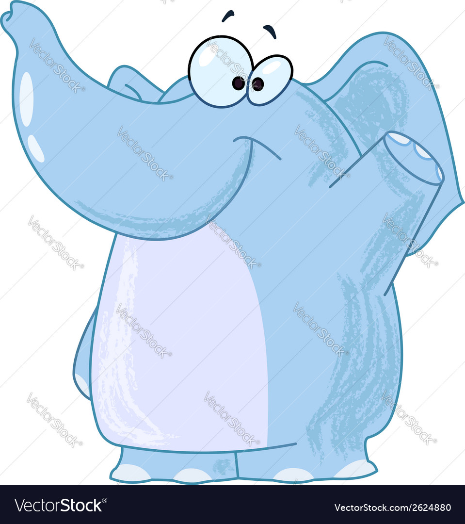 Elephant waving vector   Price: 1 Credit (USD $1)