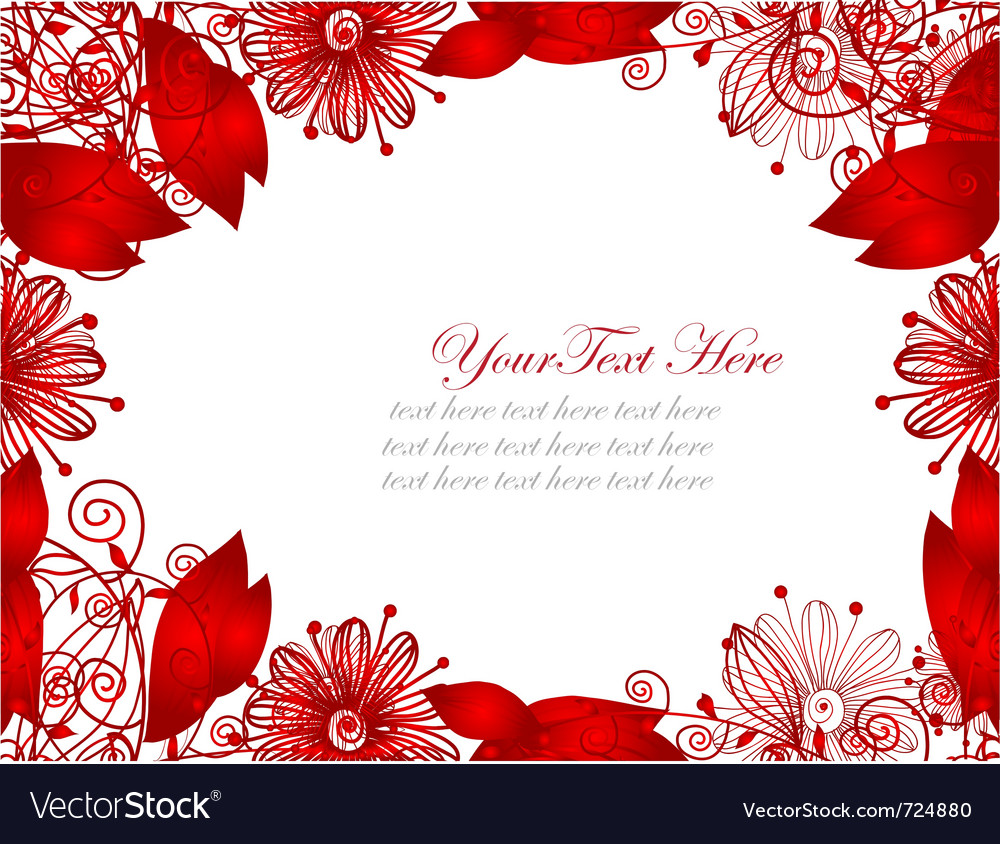 Floral invitation vector   Price: 1 Credit (USD $1)
