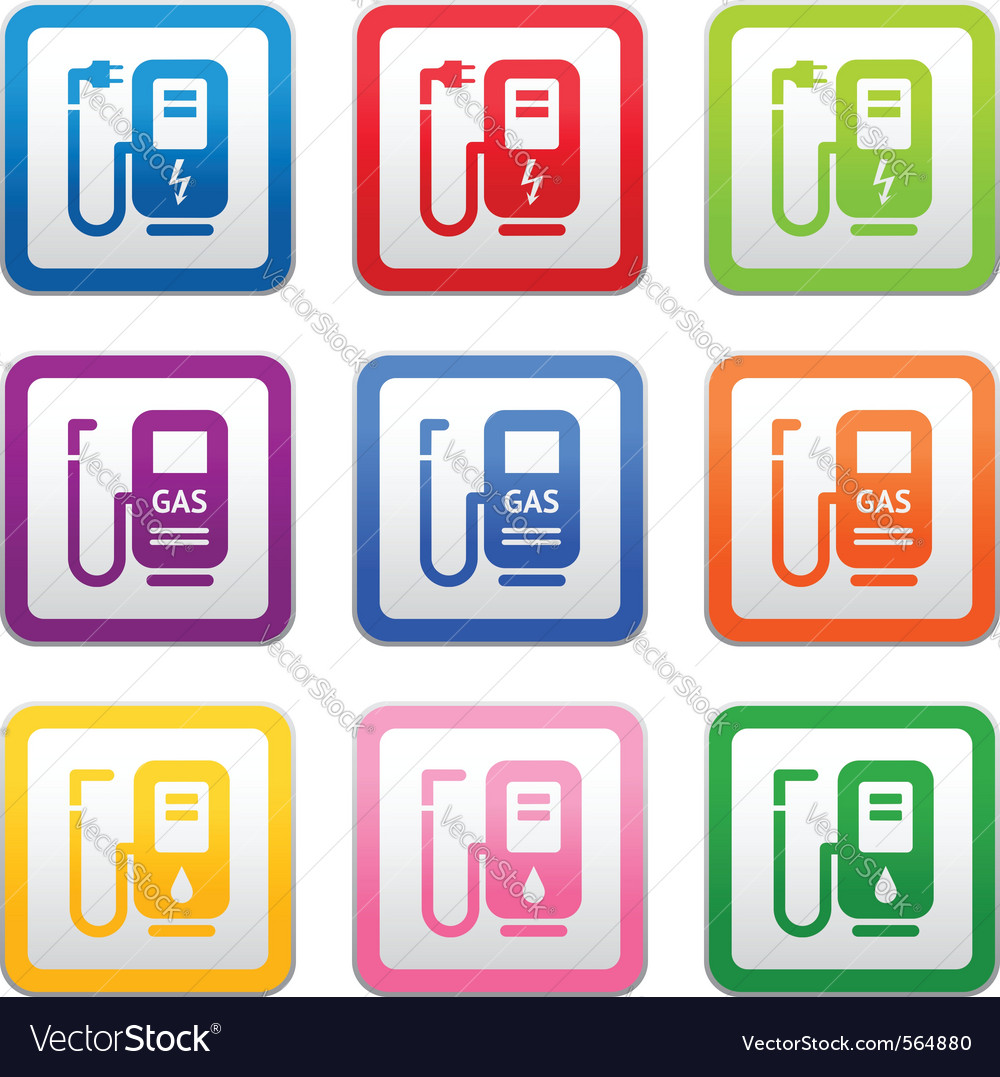 Gas station symbols vector | Price: 1 Credit (USD $1)