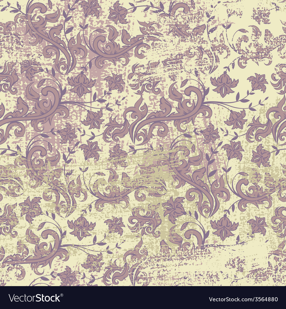 Seamless floral grunge background vector | Price: 1 Credit (USD $1)