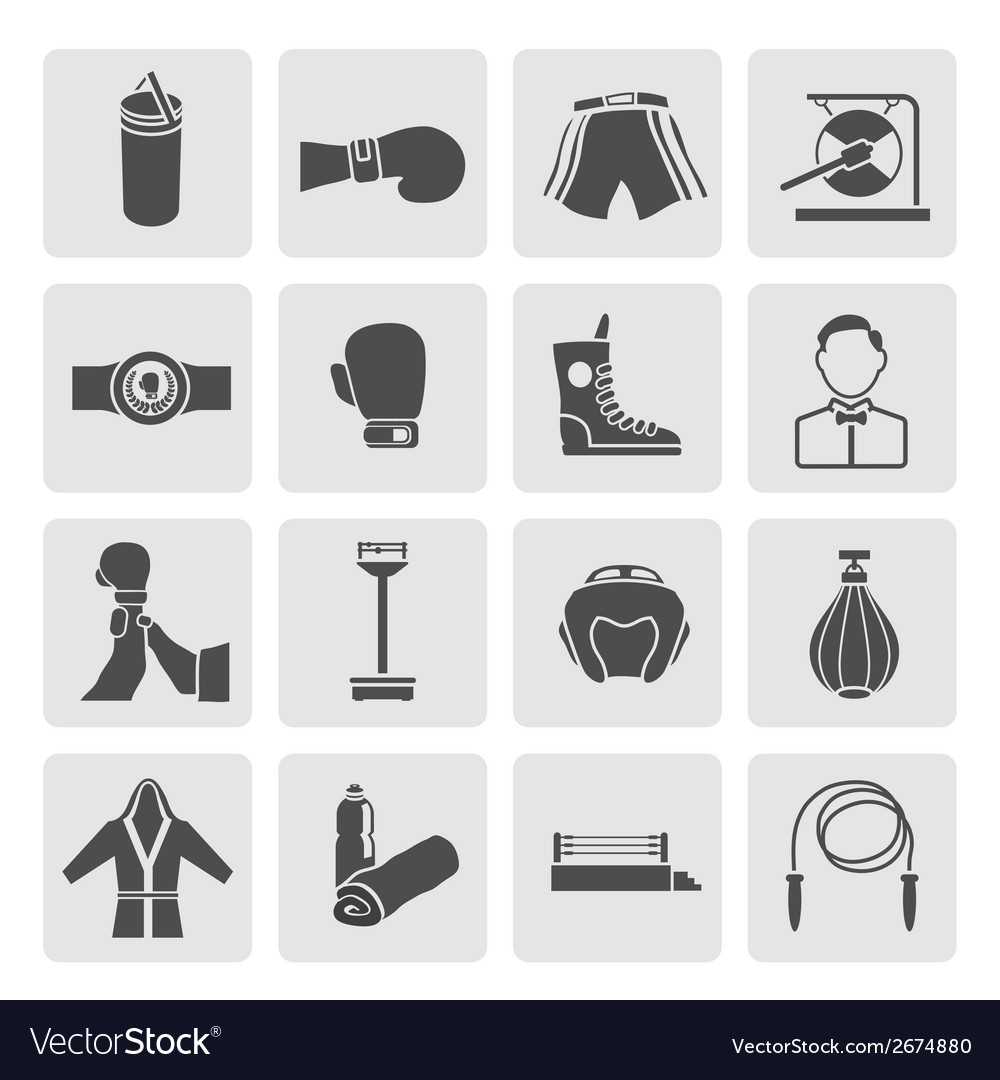 Set of boxing icons vector | Price: 1 Credit (USD $1)