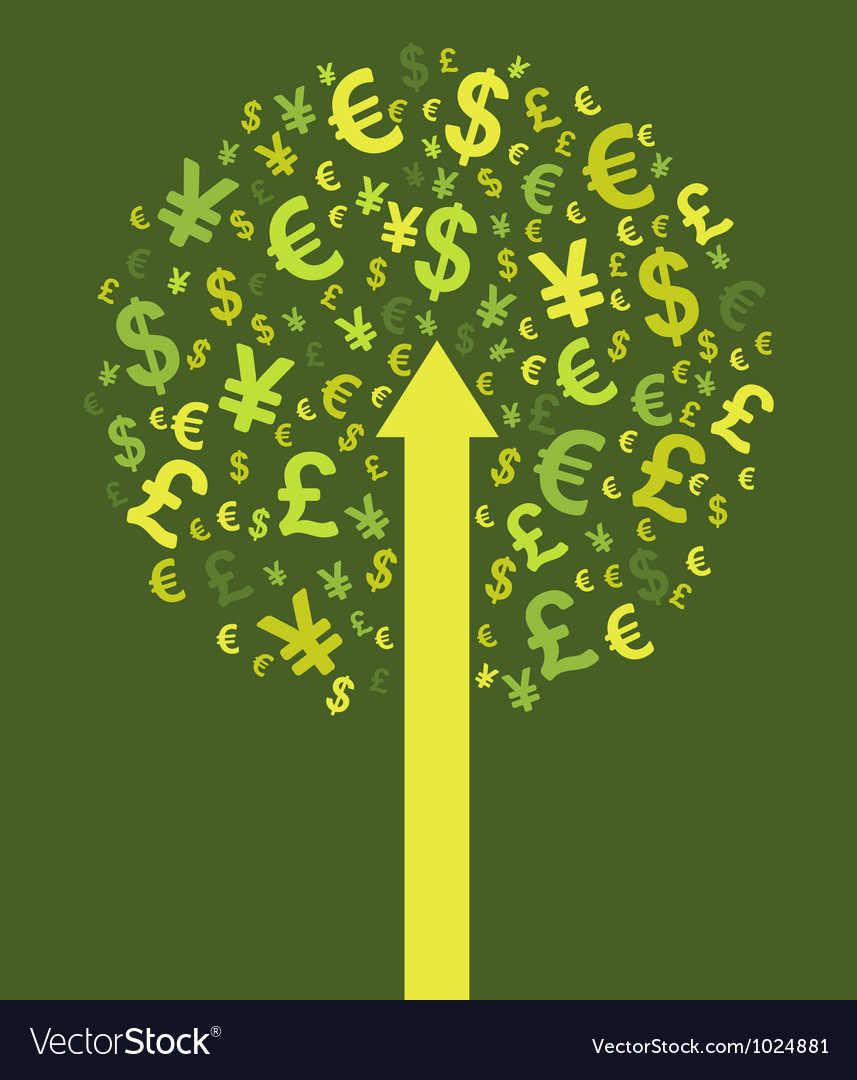 Abstract money tree vector | Price: 1 Credit (USD $1)