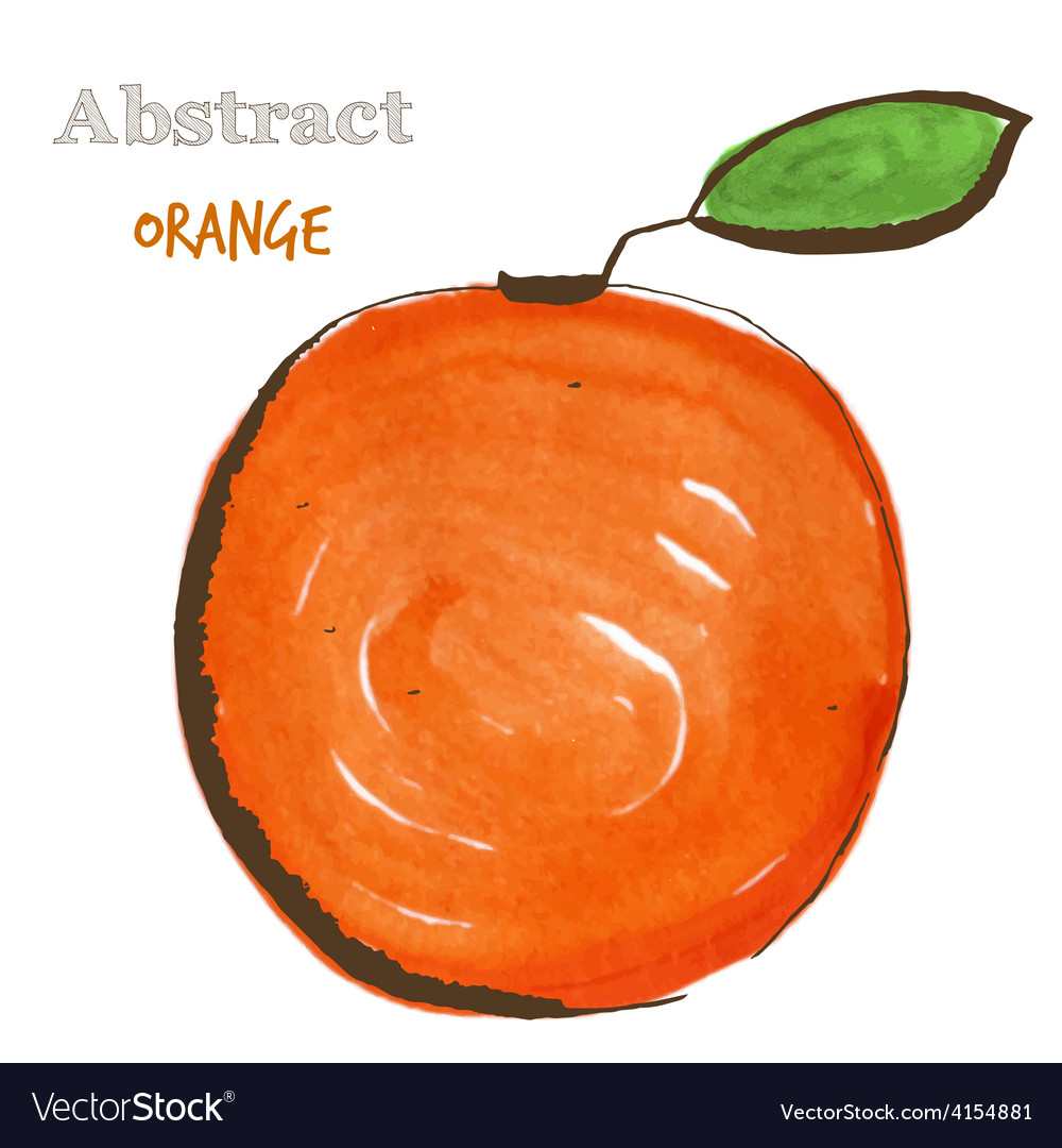 Abstract orange in mixed style with sketch and vector | Price: 1 Credit (USD $1)