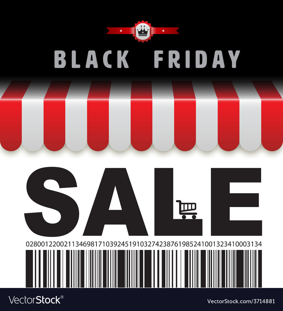 Black friday sale banner vector | Price: 1 Credit (USD $1)