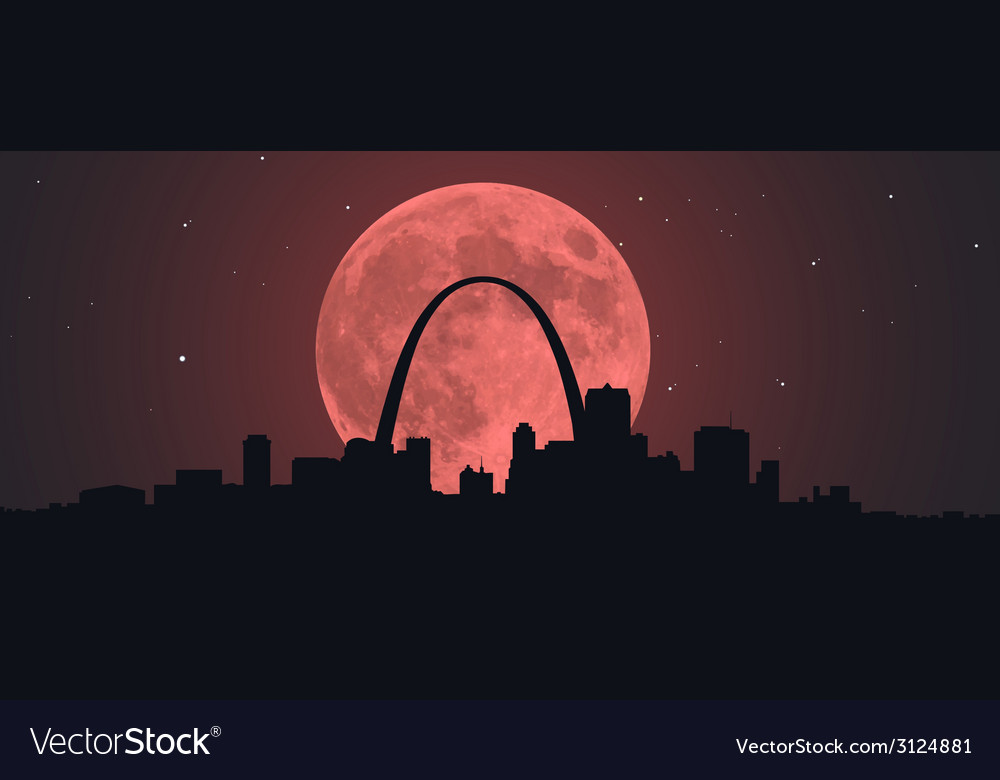 Blood super moon over stl vector | Price: 1 Credit (USD $1)