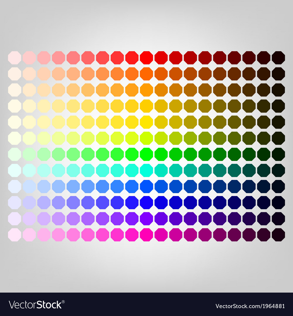 Color palette with shade of colors vector | Price: 1 Credit (USD $1)
