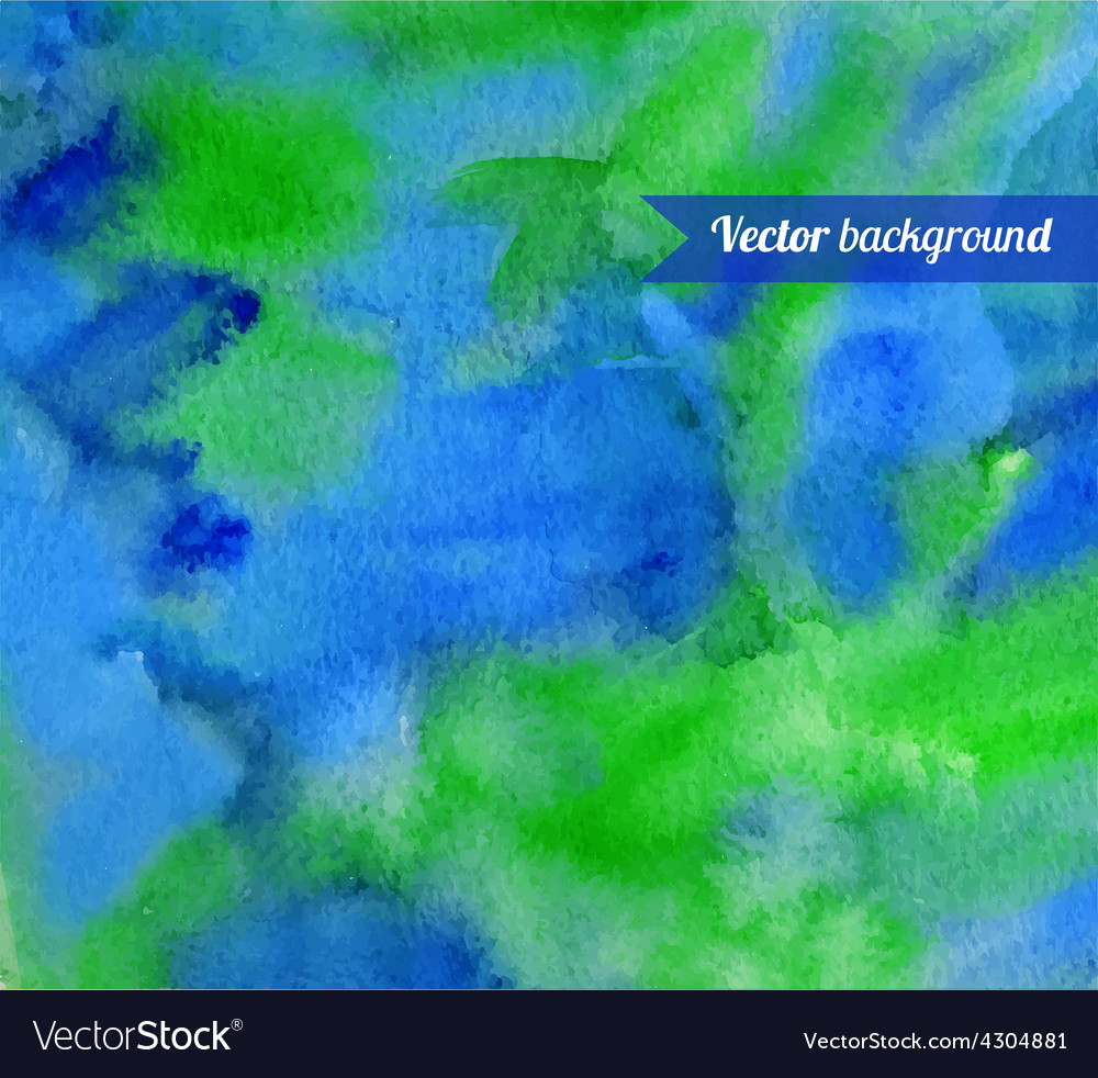 Hand painted watercolor background with smudges vector | Price: 1 Credit (USD $1)