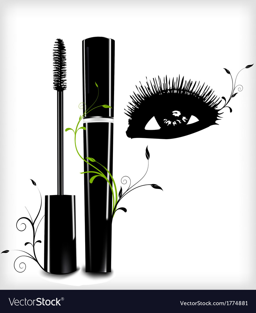 Ink for eyelashes with ornament and eye vector | Price: 1 Credit (USD $1)