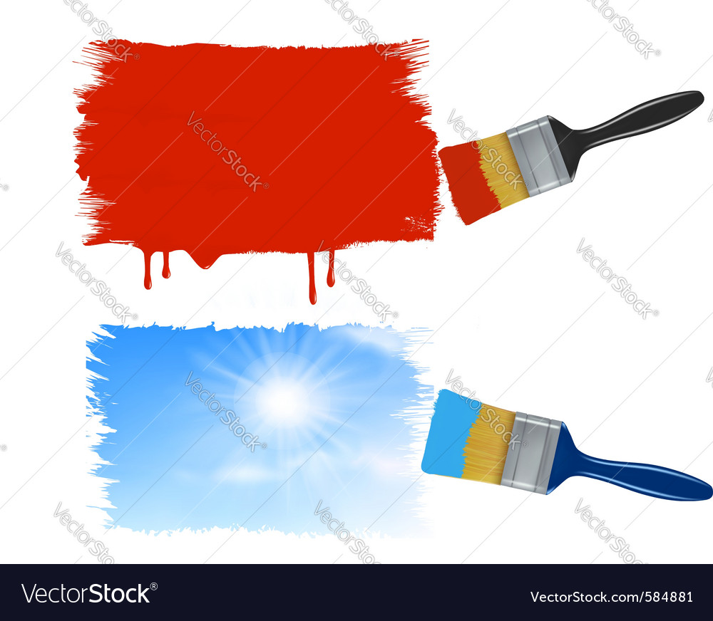 Paint brushes vector   Price: 1 Credit (USD $1)