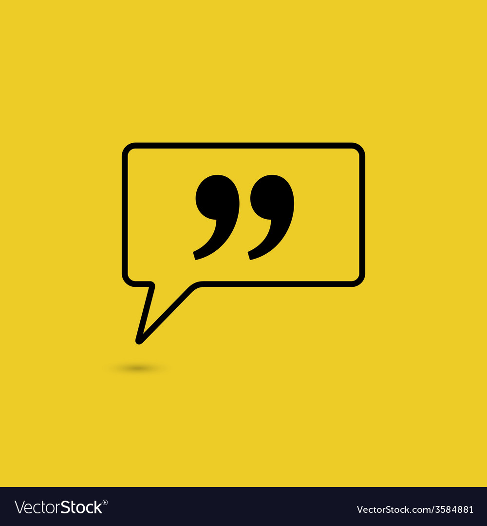 Quote sign icon vector   Price: 1 Credit (USD $1)
