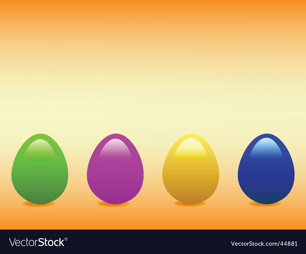 Shiny easter eggs vector | Price: 1 Credit (USD $1)