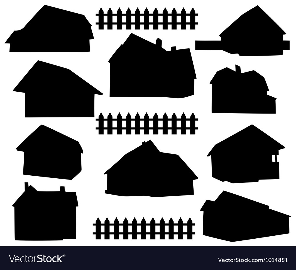 Silhouette house vector | Price: 1 Credit (USD $1)