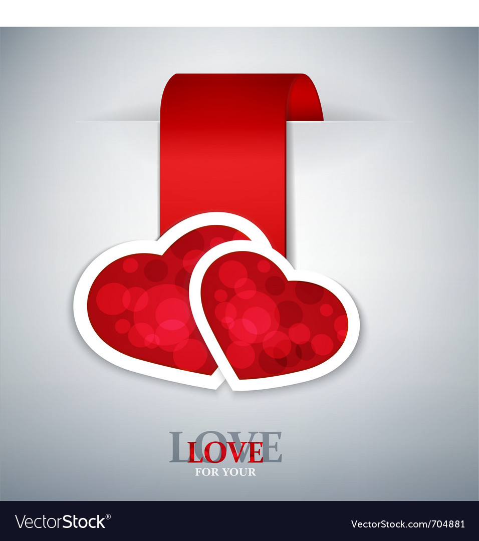 Valentines love background vector | Price: 1 Credit (USD $1)