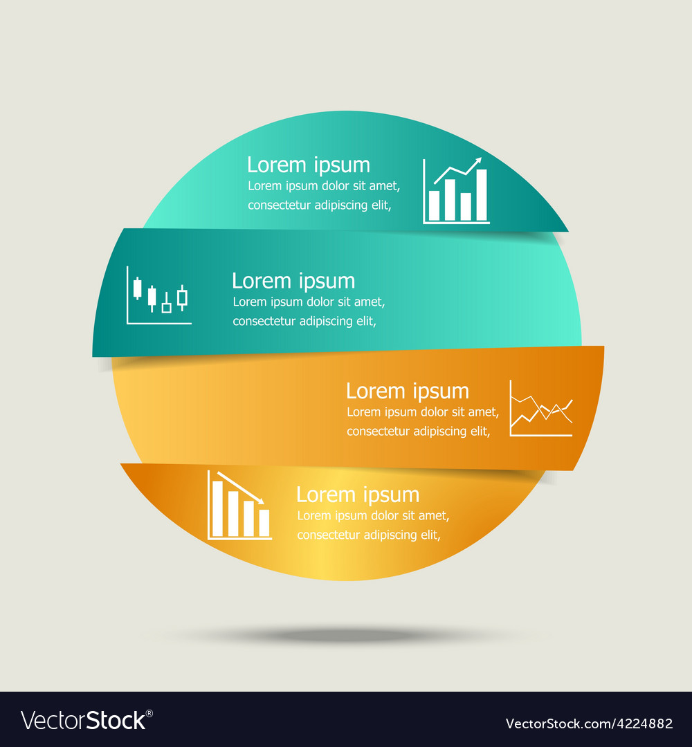 Circle banners infographic design vector | Price: 1 Credit (USD $1)