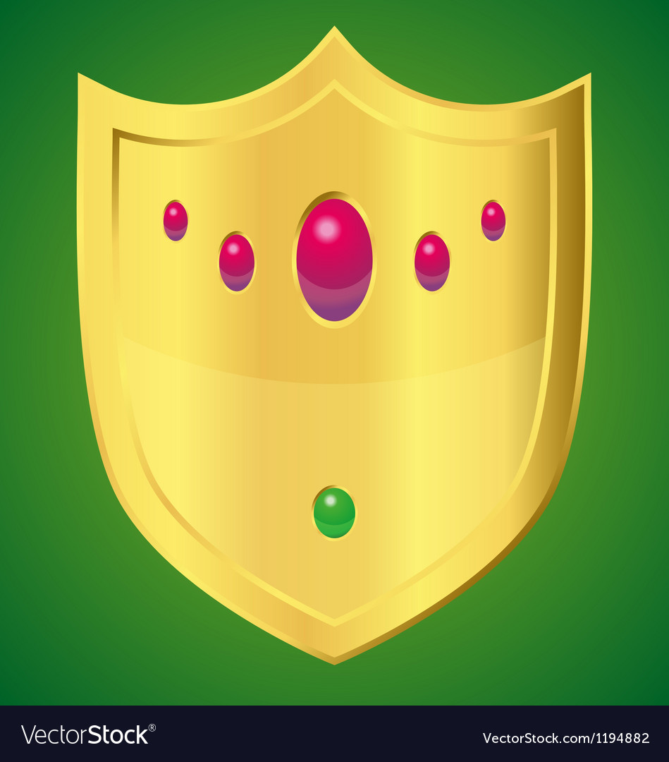 Golden shield vector | Price: 1 Credit (USD $1)