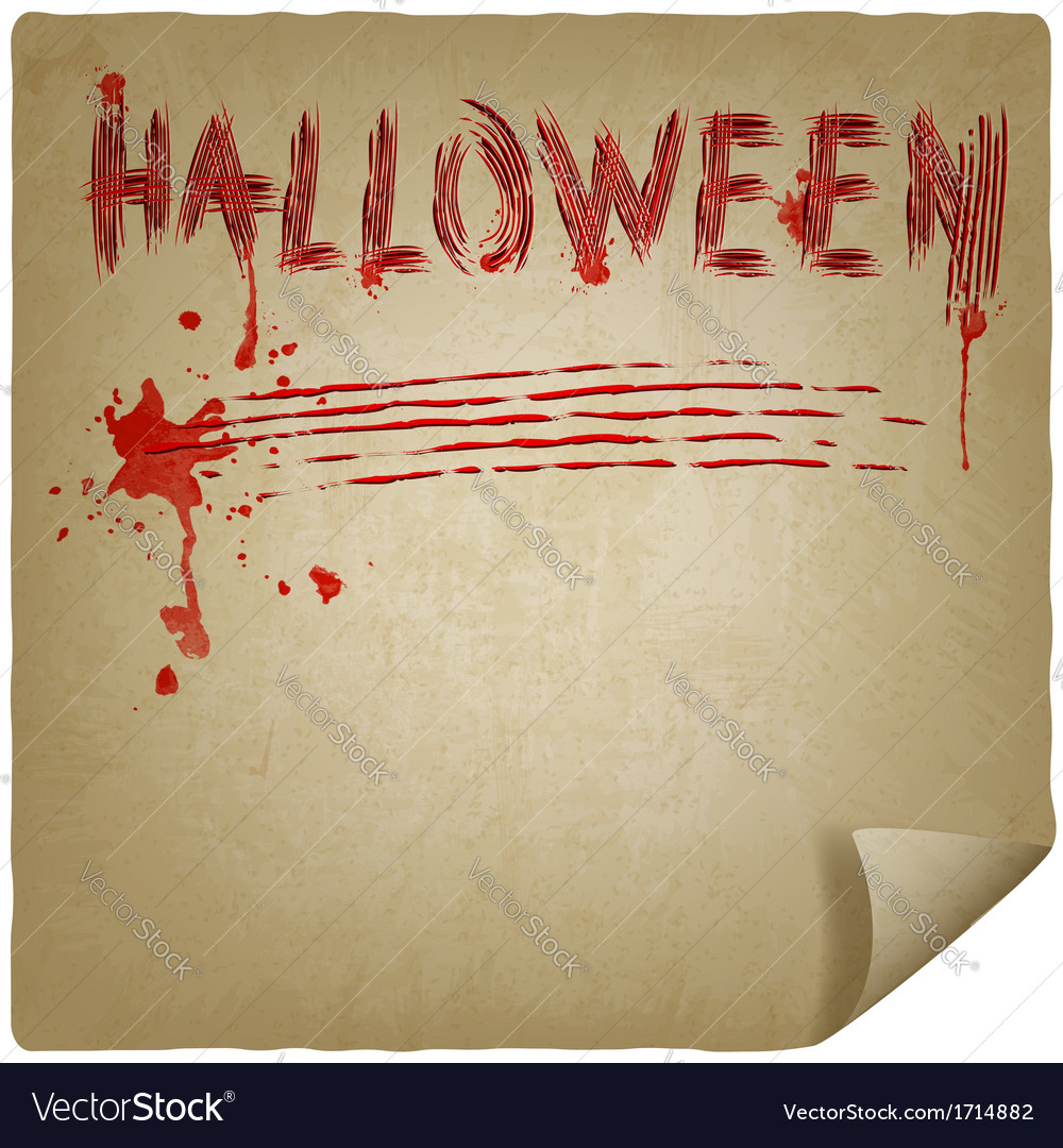 Halloween scratched background vector | Price: 1 Credit (USD $1)