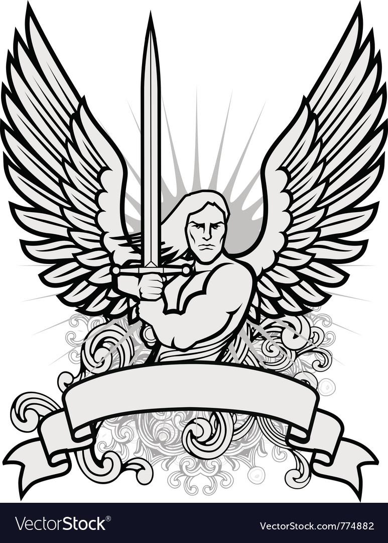 Heraldry man vector | Price: 1 Credit (USD $1)
