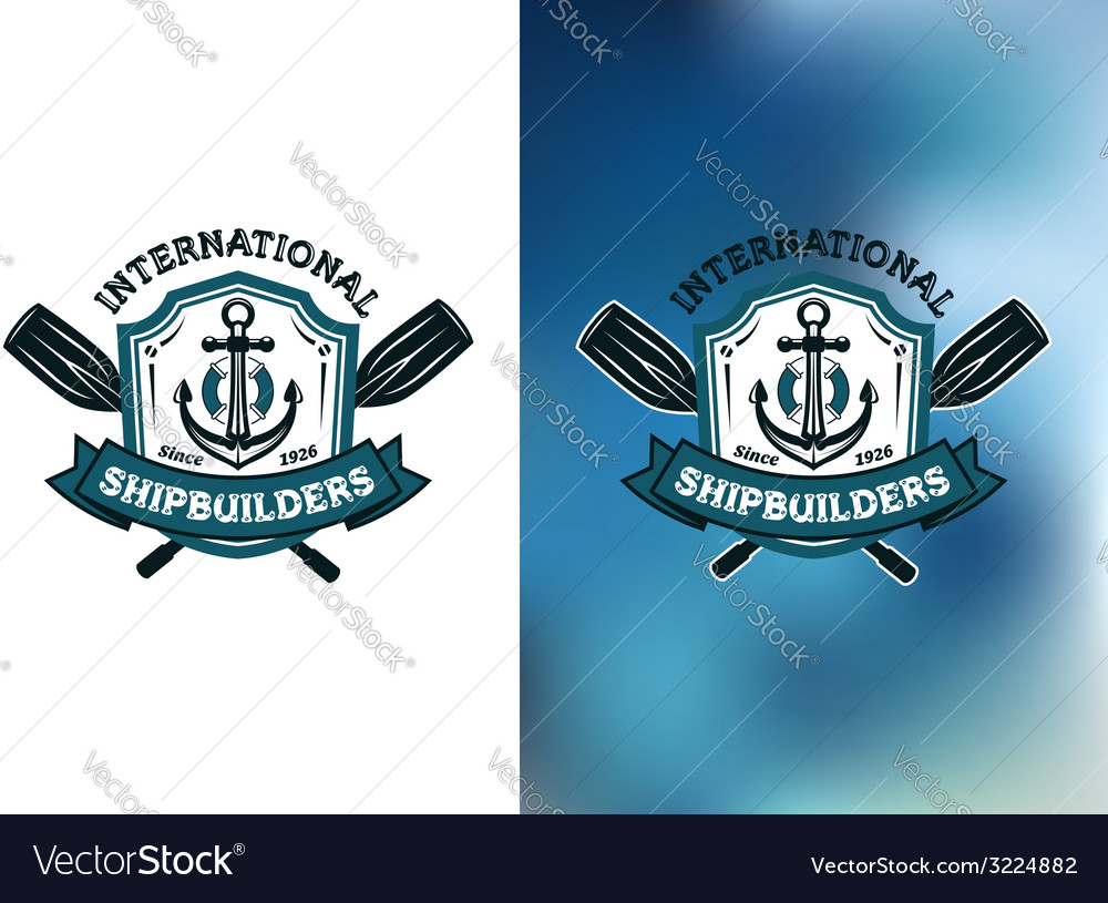 International shipbuilders emblems or logos vector | Price: 1 Credit (USD $1)