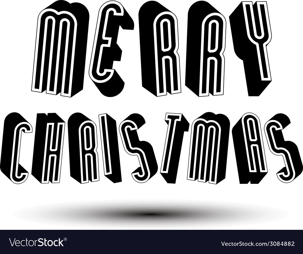 Merry christmas greeting card with phrase made vector | Price: 1 Credit (USD $1)