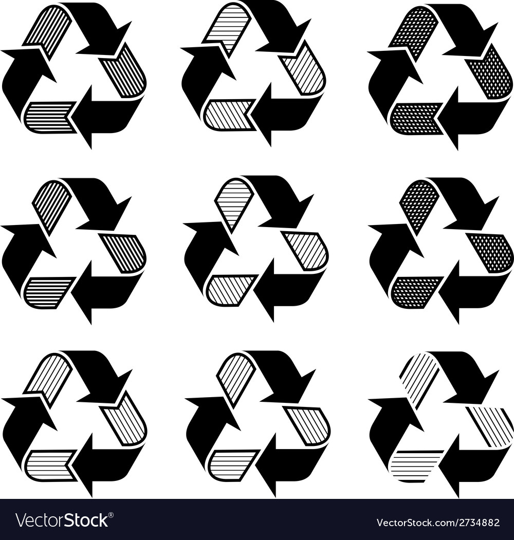Ornate recycle symbols vector | Price: 1 Credit (USD $1)