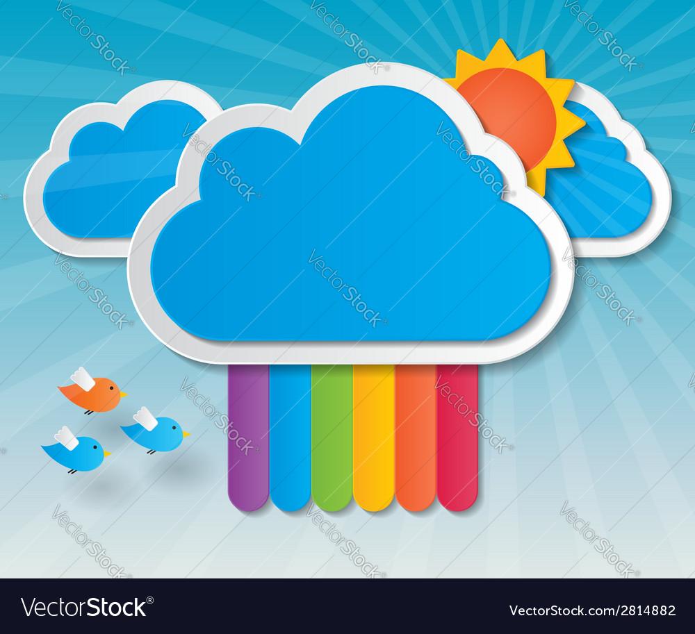 Rainbow sky background vector | Price: 1 Credit (USD $1)