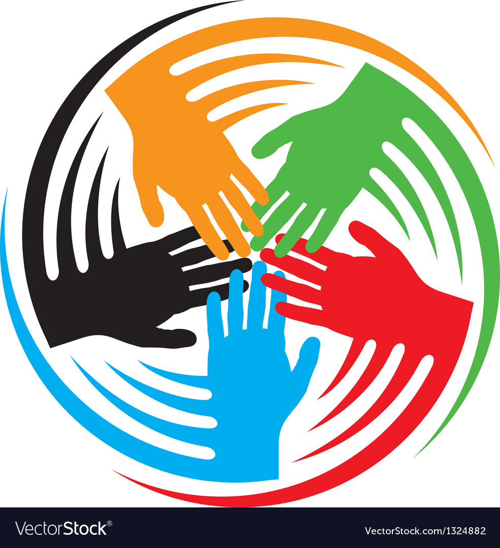 Teamwork hands icon vector | Price: 1 Credit (USD $1)