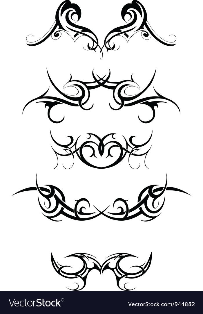 Tribal tattoo set vector | Price: 1 Credit (USD $1)