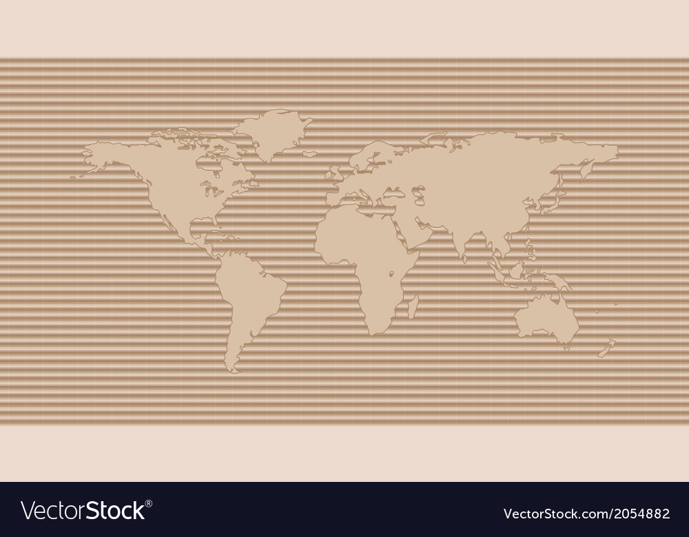 World map on cardboard background vector | Price: 1 Credit (USD $1)