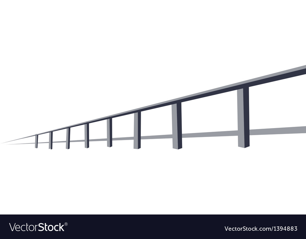 A view of large bridge vector | Price: 1 Credit (USD $1)