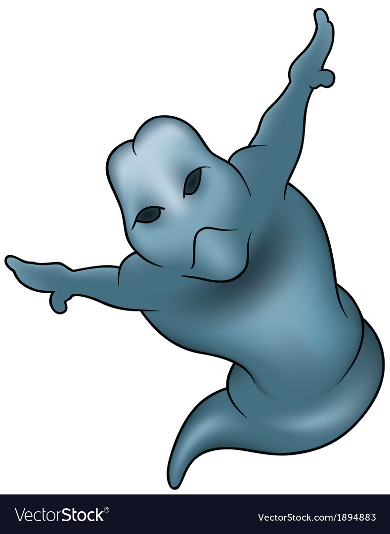 Blue ghost vector | Price: 1 Credit (USD $1)