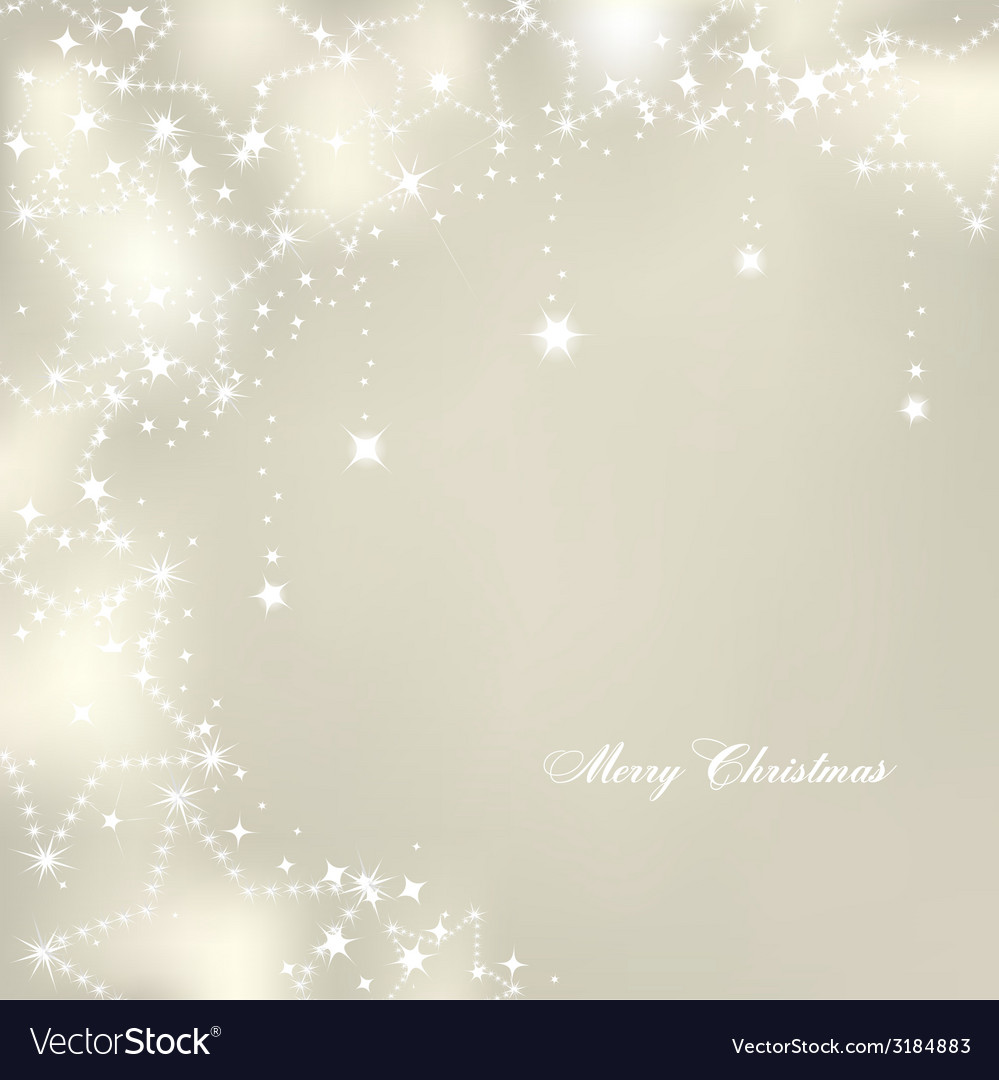 Christmas stars on silver background vector | Price: 1 Credit (USD $1)
