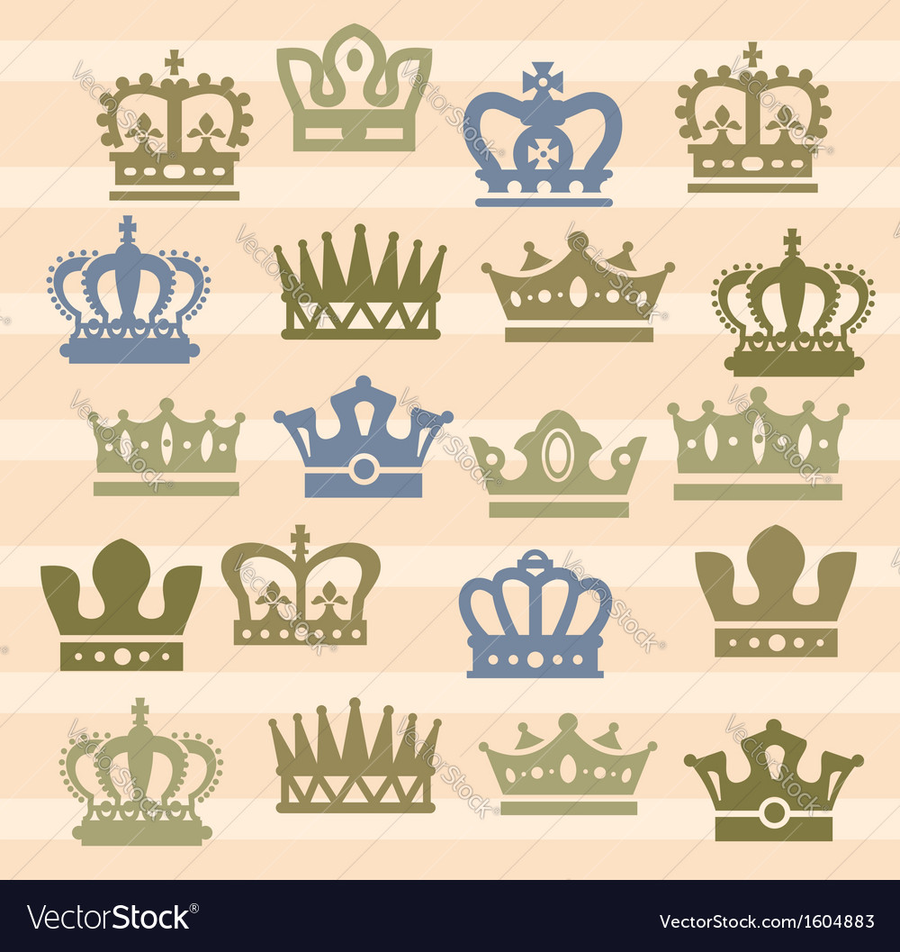 Crown icons vector   Price: 1 Credit (USD $1)