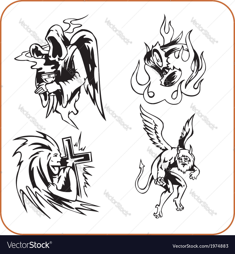 Demons - set vector | Price: 1 Credit (USD $1)
