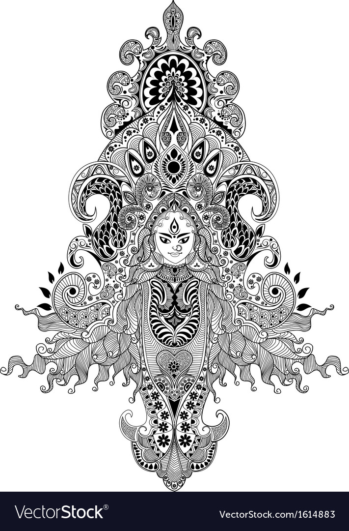 Durga puja vector | Price: 1 Credit (USD $1)