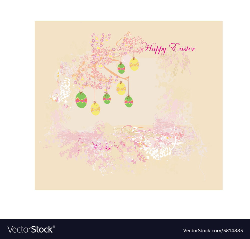 Easter egg on floral background vector | Price: 1 Credit (USD $1)
