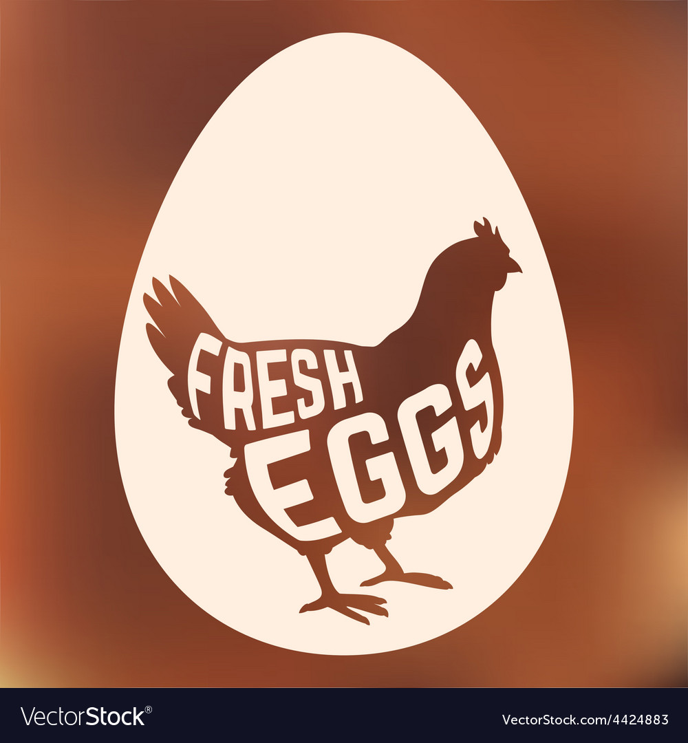Egg with concept chicken silhouette inside on vector | Price: 1 Credit (USD $1)
