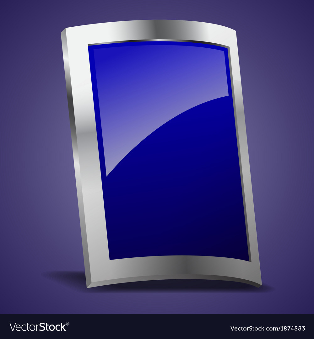 Empty rectangle shape metal shield vector   Price: 1 Credit (USD $1)