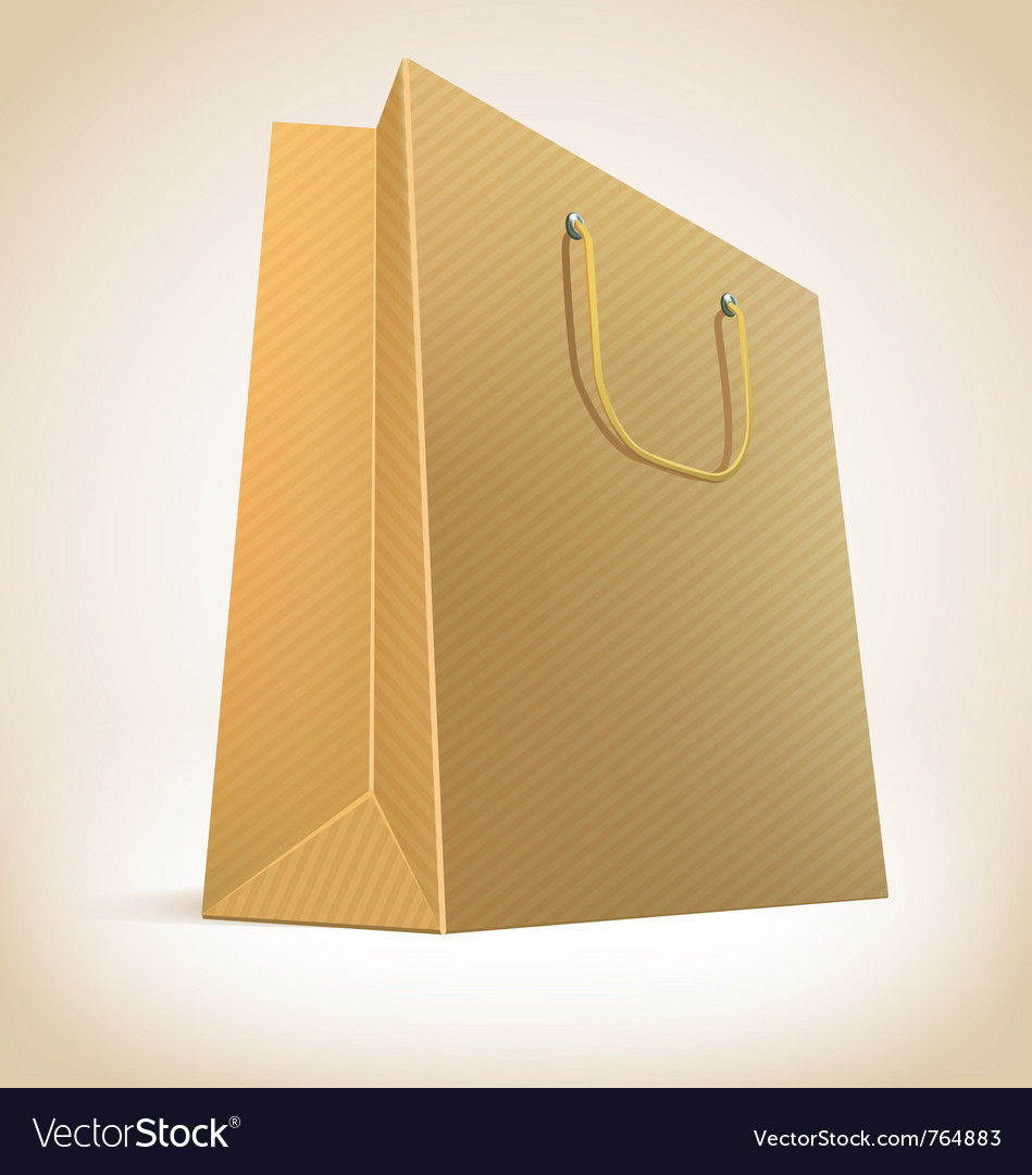 Paper shopping bag vector | Price: 3 Credit (USD $3)